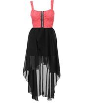dress,fishtail,chiffon,coral