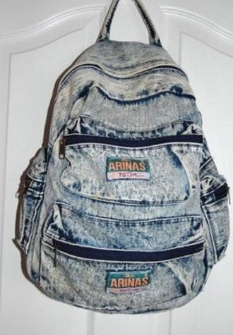 bag acid wash backpack backpacks denim