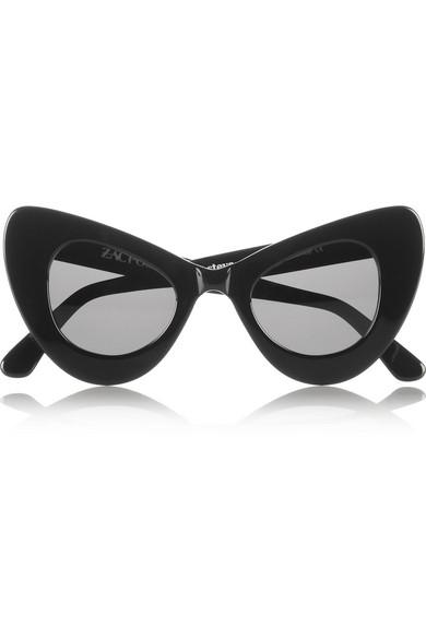 zac posen cat eye acetate sunglasses