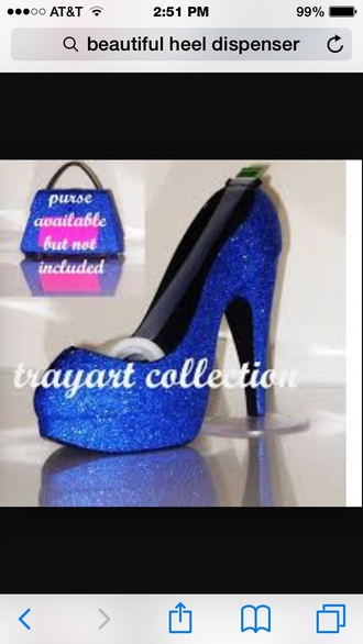 hair accessories blue glitter jewel gem tape dispenser