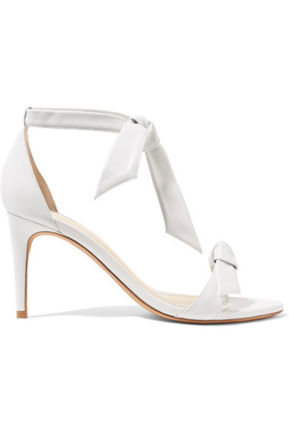 Alexandre Birman bow embellished sandals leather sandals leather white shoes