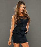 dress,navy dress,peplum dress,black dress