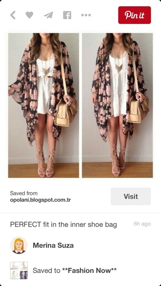 cardigan floral fashion style kimono flowers summer summer outfits cute