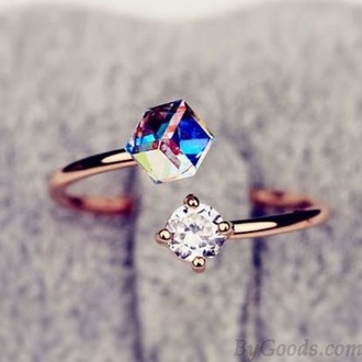 jewels gold ring gold ring stone blue diamonds