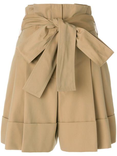 Alexander Mcqueen shorts high women nude cotton