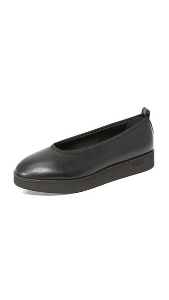 noir flats shoes