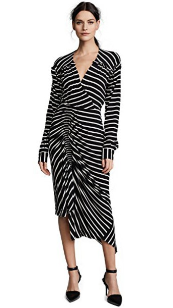 PREEN BY THORNTON BREGAZZI dress striped dress white black