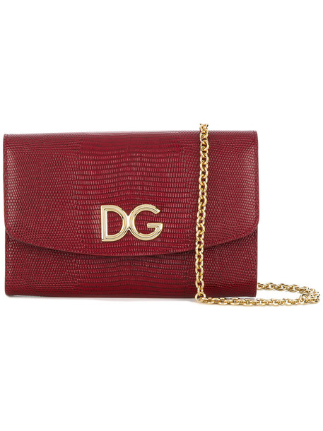 Dolce & Gabbana women bag leather red