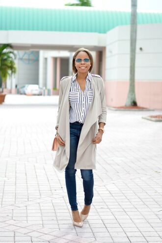 cha cha the fashion genius blogger jacket top jeans shoes bag jewels sunglasses