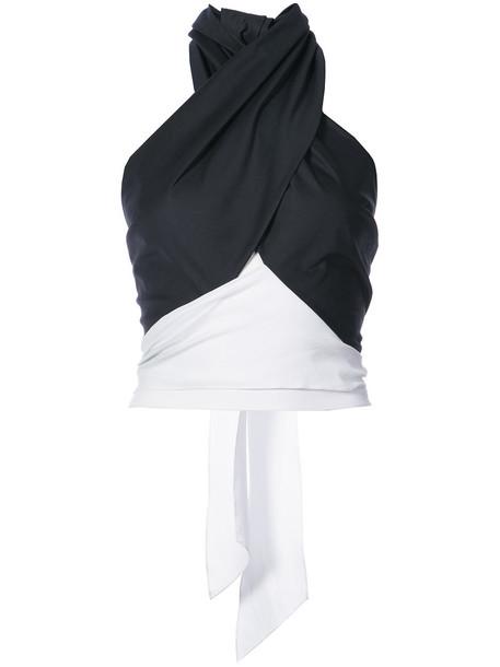 Tome top back women cotton black