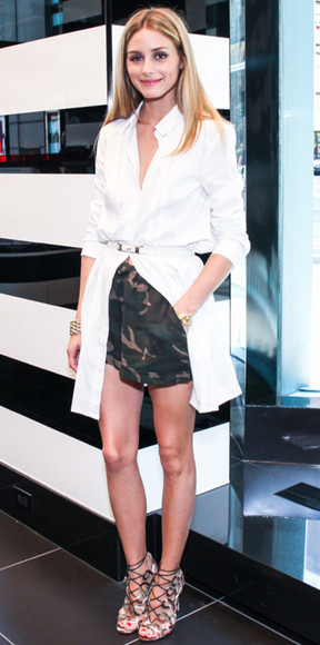 shorts shoes olivia palermo coat