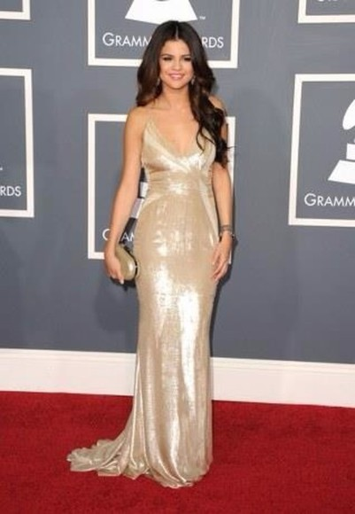 dress gold maxi dress gold dress maxi selena gomez silver dress sequin sequin dress