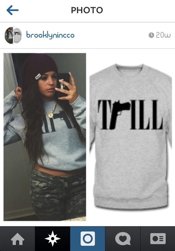 shirt swag swag crewneck crewneck sweater sweatshirt trill fashion streetwear
