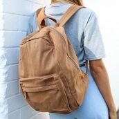 bag,suede,suede bag,brown suede,peppermayo,backpack,suede backpack,brown backpack,afends