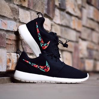 shoes roshe runs nike shoes flowered skirt