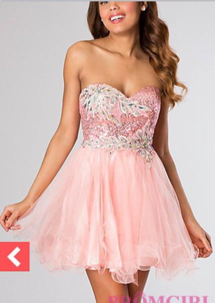 dress prom dress formal dress pink dress pink