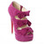 Christian Louboutin Madame Butterfly Booty 150 Suede Pink Red Sole Shoes French Footwear Special Offers