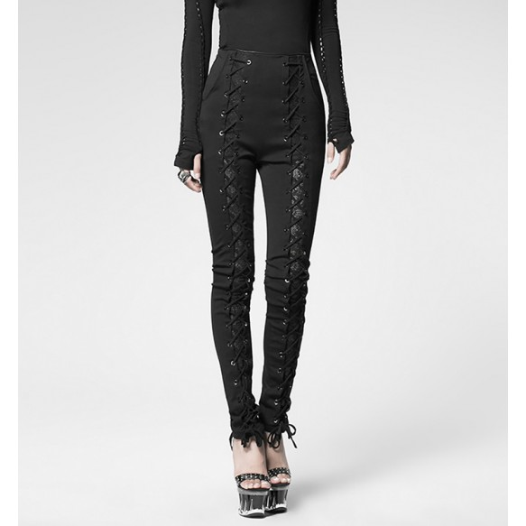 Laced-Up Skinny Pants at Style Moi