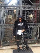 bag,chanel,chanel bag,luxury,fur,mink fur,fashion,hoodie,prada,prada sunglasses,sneakers,black,black bag,alexander mcqueen,scarf,dimepiece,black sneakers,isabel marant,ripped jeans,ootd,paris,streetwear,sporty,blogger