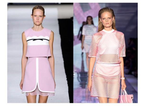 dress pink dress summer trend trendy catwalk model