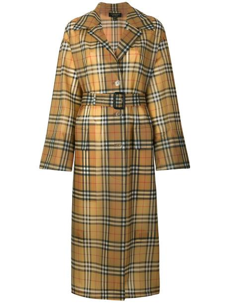 Burberry coat trench coat women brown