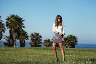my daily style blogger shirt skirt