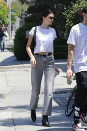 lefashion,blogger,sunglasses,t-shirt,belt,jeans,shoes,celebrity,kendall jenner