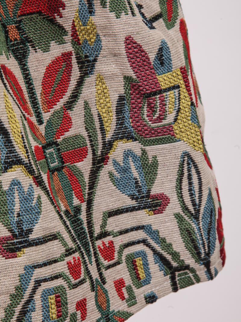 Apricot Vintage Floral Flare Skirt - Sheinside.com