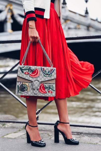 gucci red sandal heels