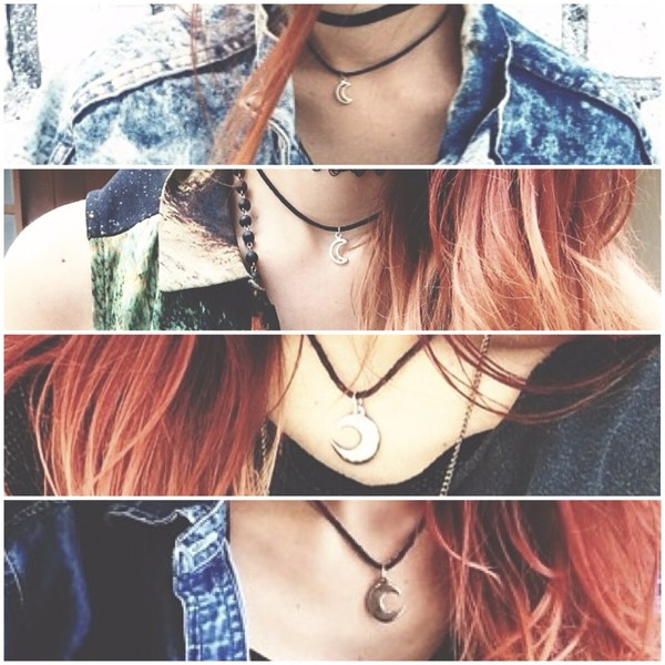 jewels moon necklace luanna perez beautiful grunge