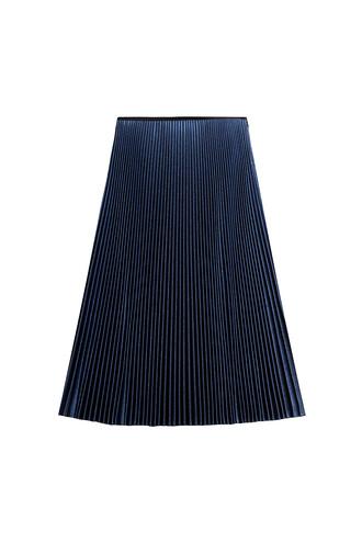 skirt pleated skirt pleated silk blue