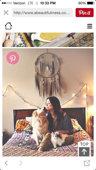 home accessory boho dreamcatcher love earthy tones