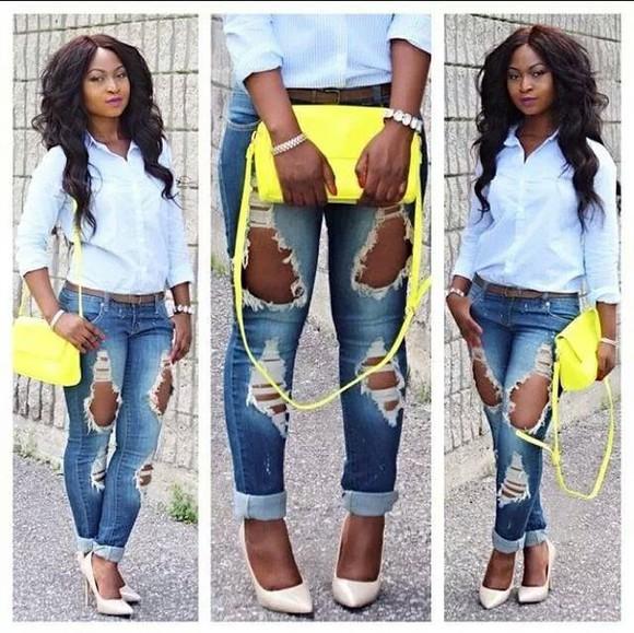 Belt jeans shoes bag