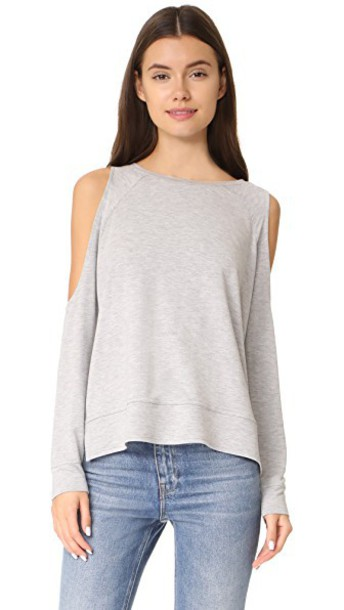 cupcakes and cashmere sweatshirt cold light grey heather grey sweater