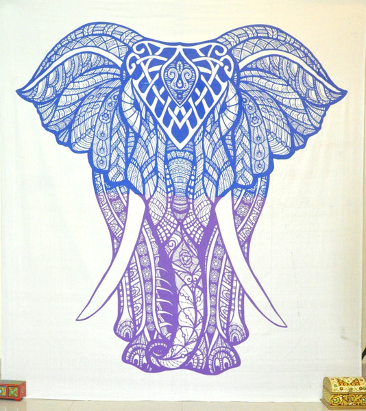 bohemian elephant tapestries psychedelic tapestry wall ...