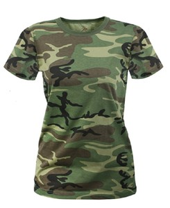 Women's longer woodland camo t shirt just released