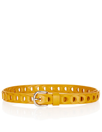 belt leather yellow mustard
