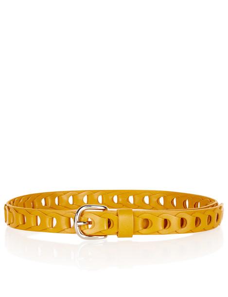 belt leather yellow mustard