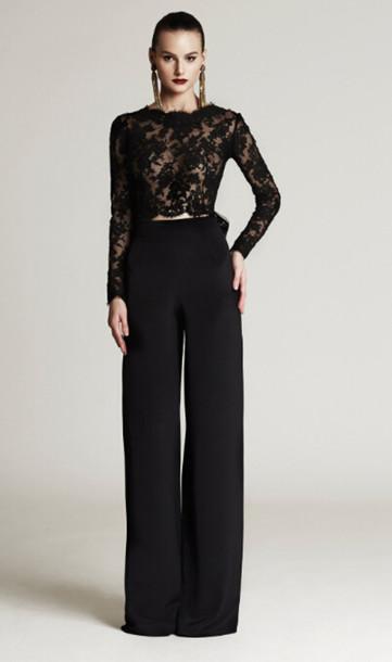 Fantastic Pant Suits   135507 Purple Black Womens Formal Evening Pant Suit