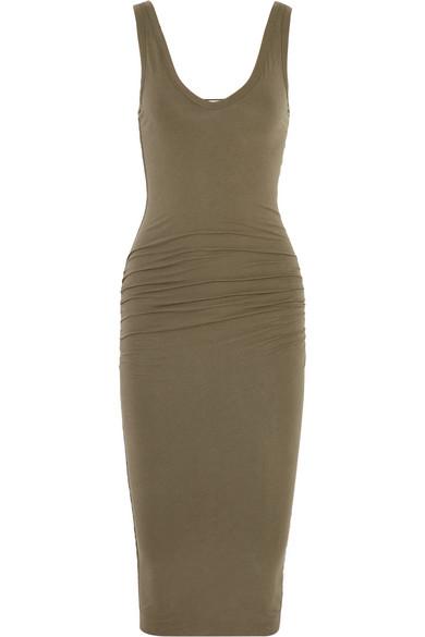 James Perse|Stretch-cotton jersey dress|NET-A-PORTER.COM