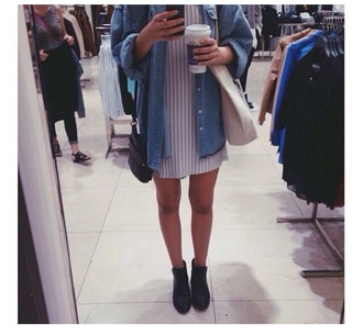shirt jacket top grunge style hippie hipster fashion boots black boots