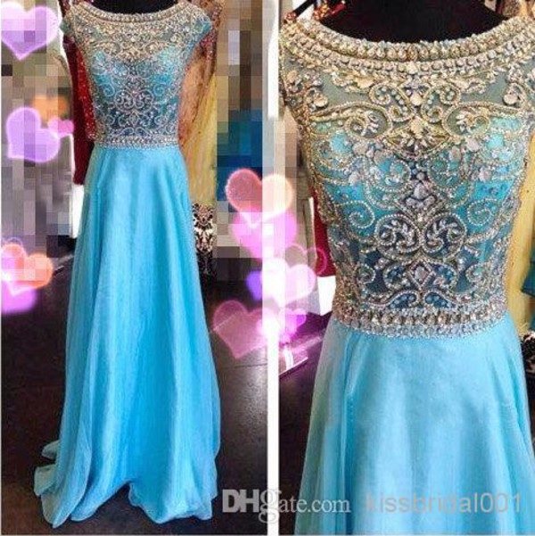 prom dress 2014 crystal prom dresses 2015 evening crystal dresses arabic  dresses sky blue new fashion 2015 prom dress 2015 formal gowns