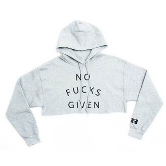 top gray fcc crop tops hoodie