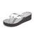 Michael Michael Kors Bedford Wedge Flip Flops - Silver