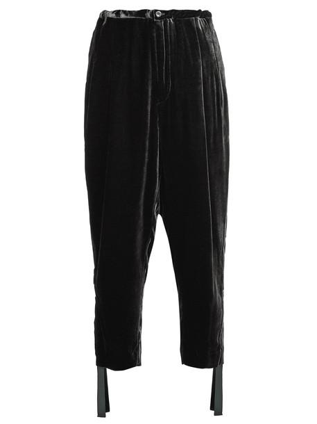 Toga high velvet black pants