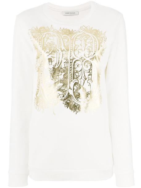 Pierre Balmain sweatshirt women white cotton sweater