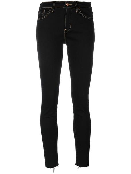 Calvin Klein Jeans jeans skinny jeans cropped women spandex cotton black