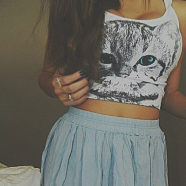 top cats crop tops white
