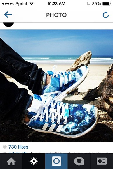 waves shoes light blue adidas rihanna
