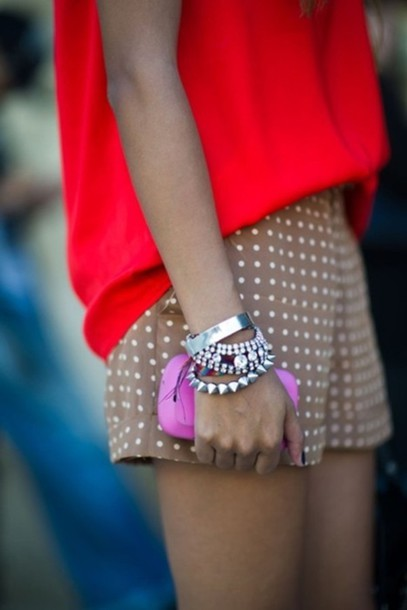 shorts clothes studs jewels